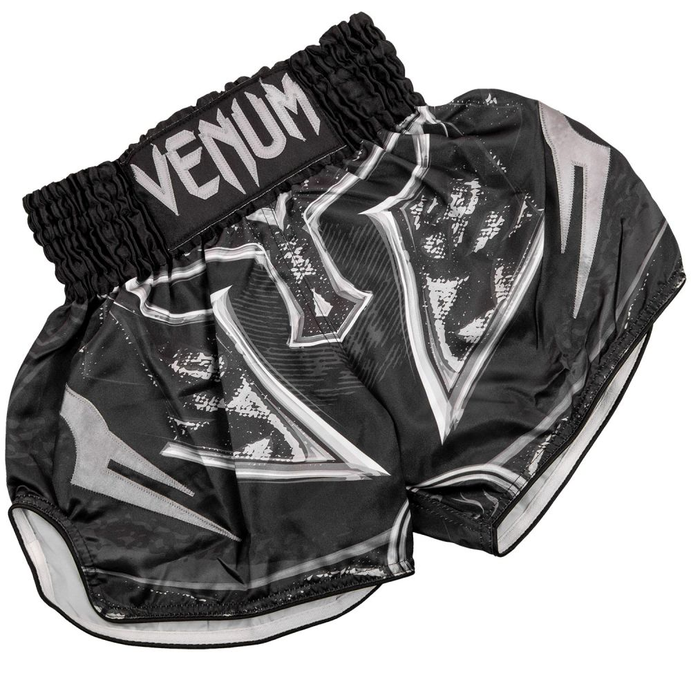 Short Muay Thai Venum Gladiator 3.0 - Noir/Gris - Exclusivité