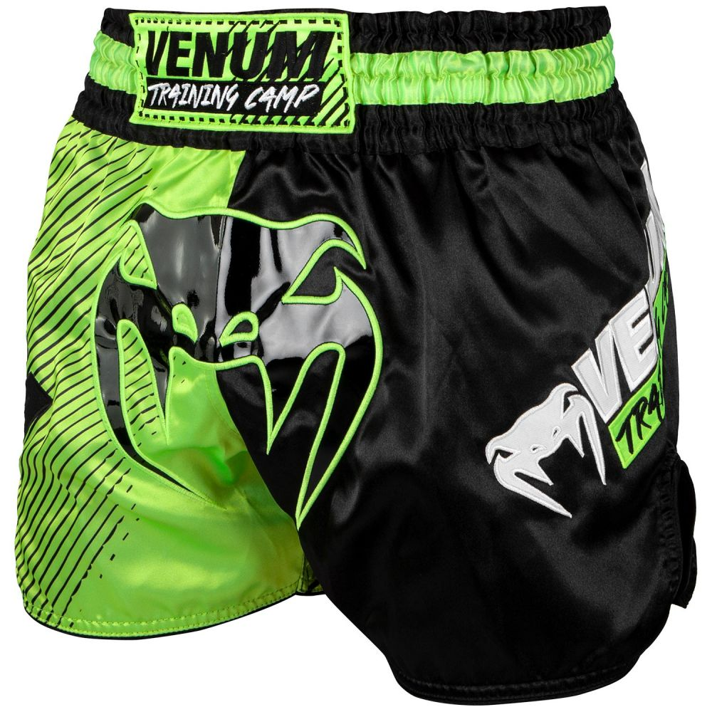 Venum Training Camp Muay Thai-short - Zwart/neon geel