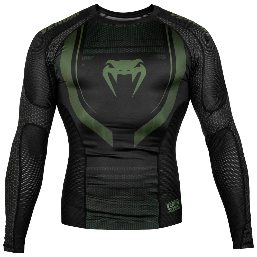 Venum Technical 2.0 Rashguard - Long Sleeves - Black/Khaki - Exclusive