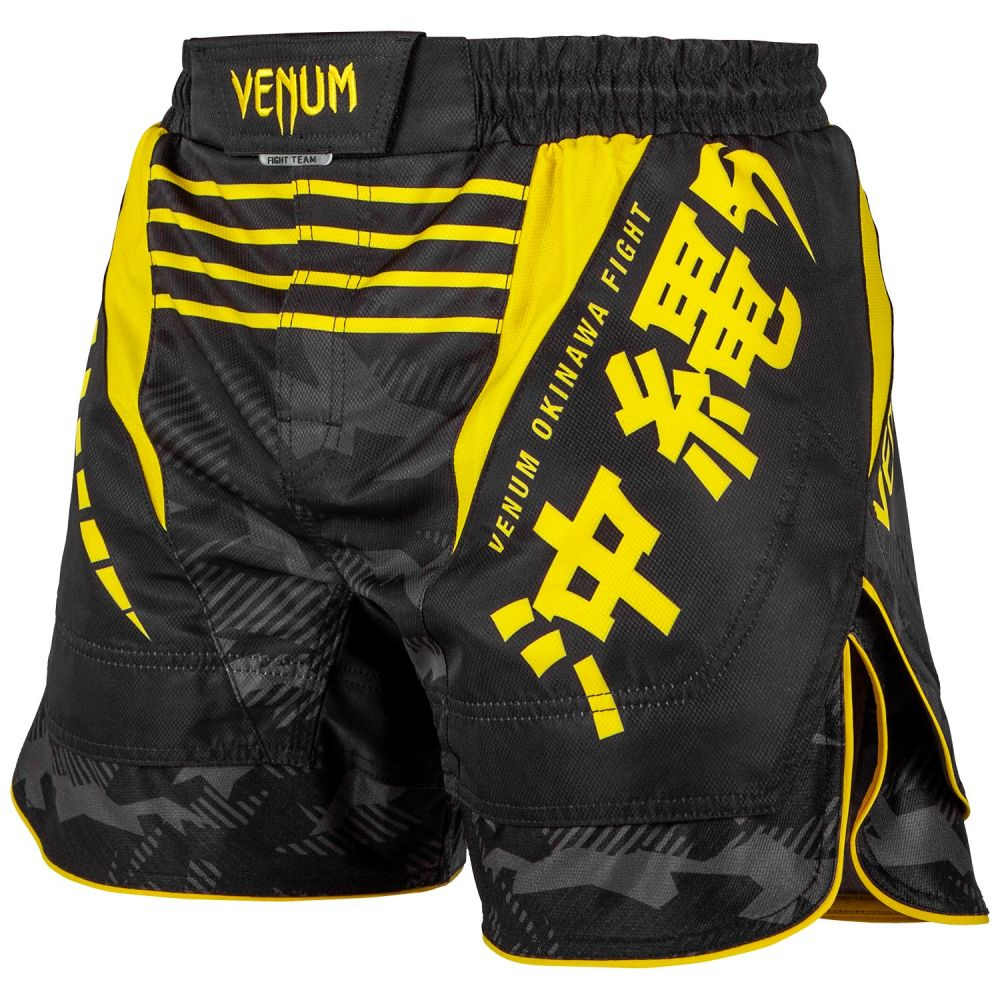 Venum Okinawa 2.0 Fightshorts - Black/Yellow