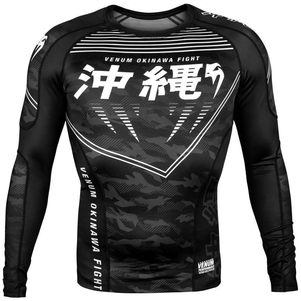 Venum Okinawa 2.0 Rashguard - Long Sleeves - Black/White