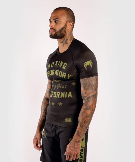 Venum Boxing Lab Rashguard - Korte Mouwen - Zwart/Groen
