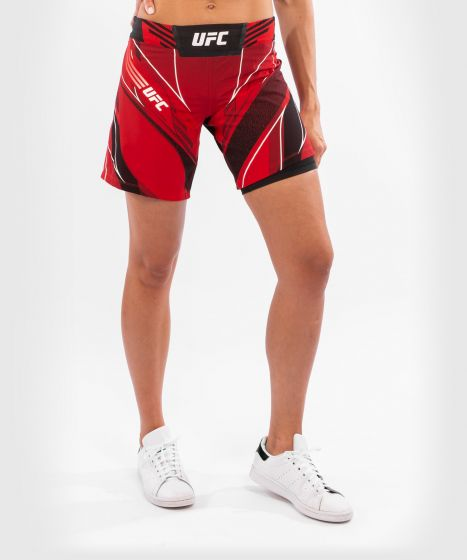 UFC Venum Authentic Fight Night Women's Shorts - Long Fit - Red