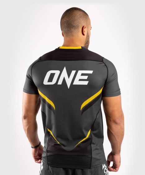 Venum ONE FC Impact Dry Tech T-Shirt - Grey/Yellow