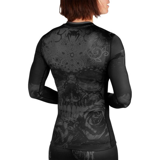 Venum Santa Muerte 3.0 Rashguard - Long Sleeves - For Women - Black/Black