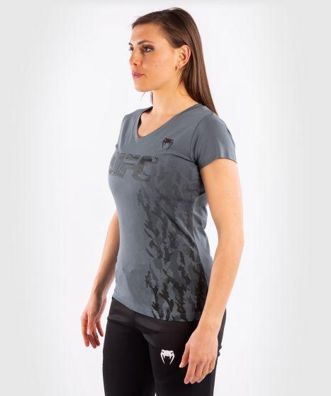 T-shirt Manches Courtes Femme UFC Venum Authentic Fight Week - Gris