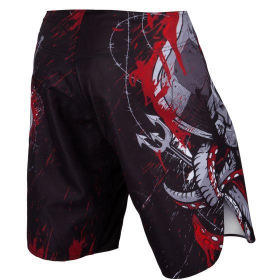 Pantaloncini da combattimento Venum Pirate 3.0 - Nero/Rosso