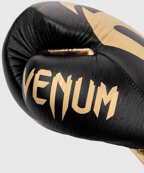 Gants de Boxe Pro Venum Giant 2.0 - Avec Lacets - Noir/Or