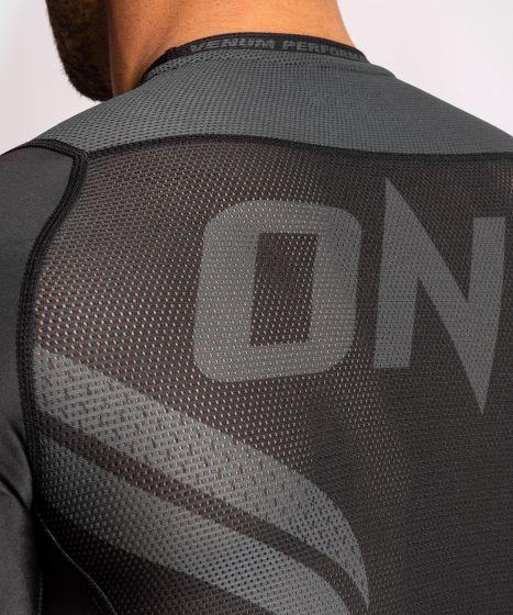 Rashguard a manica corta ONE FC Impact  - Nero/Nero