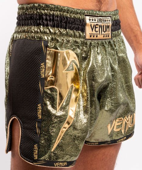 Muay Thai Shorts Venum Giant Foil - Khaki/Gold