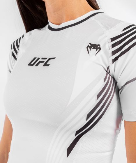 T-shirt de compression Femme UFC Venum Authentic Fight Night - Blanc
