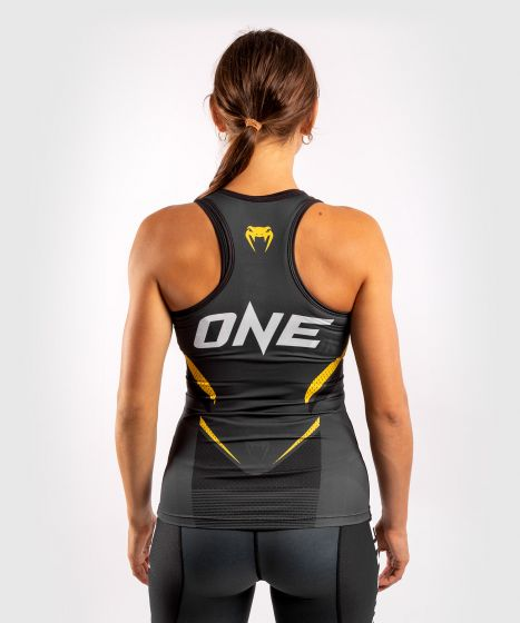 Camiseta sin mangas Dry-Tech ONE FC Impact - Mujer - Gris/Amarillo