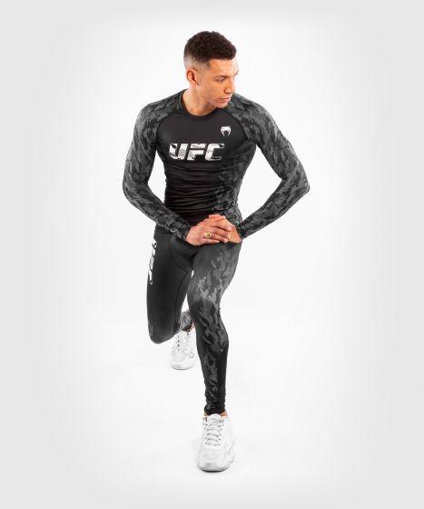 Rashguard a Maniche Lunghe Uomo UFC Venum Authentic Fight Week - Nero