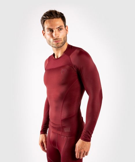 Venum G-Fit Rashguard - Long Sleeves - Burgundy
