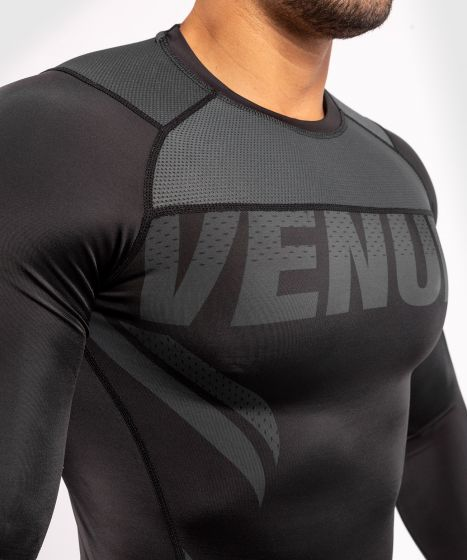 Venum ONE FC Impact Rashguard - long sleeves - Black/Black