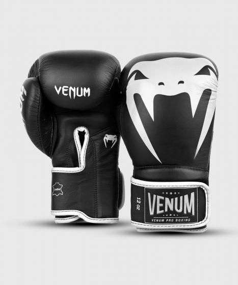 Gants de boxe pro Venum Giant 2.0 - Velcro - Noir/Blanc