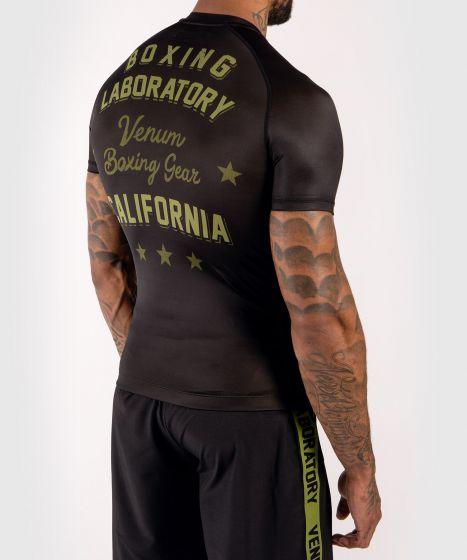 Venum Boxing Lab Rashguard - Short sleeves - Black/Green