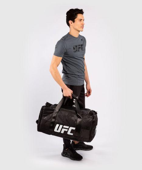 Camiseta De Algodón Manga Corta Para Hombre UFC Venum Authentic Fight Week - Gris