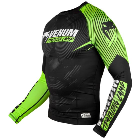 Venum Training Camp 2.0 Rashguard - Long Sleeves - Black/Neo Yellow