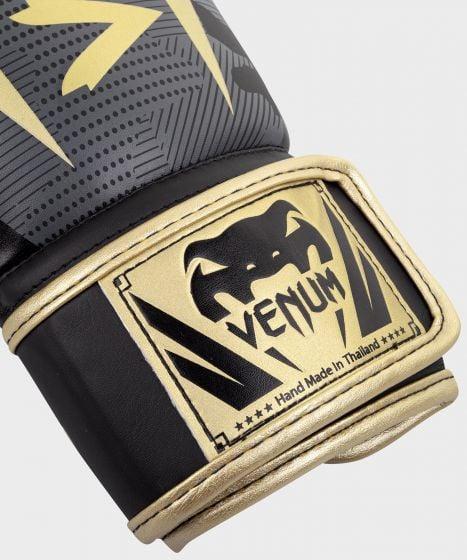 Venum Elite bokshandschoenen - Donkercamouflage/Goud
