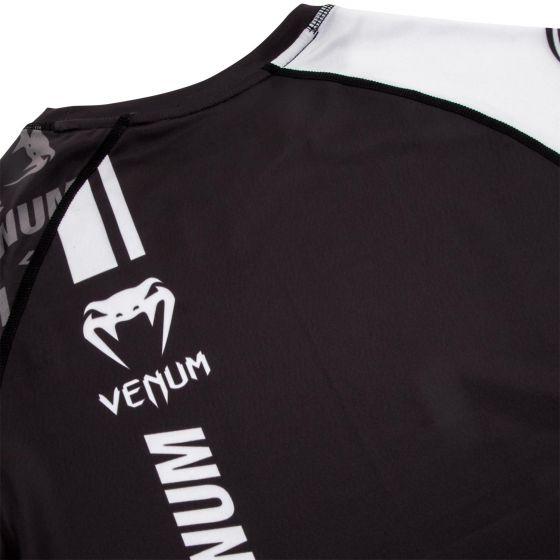 Venum Logos Rashguard - Korte mouwen - Zwart/Wit