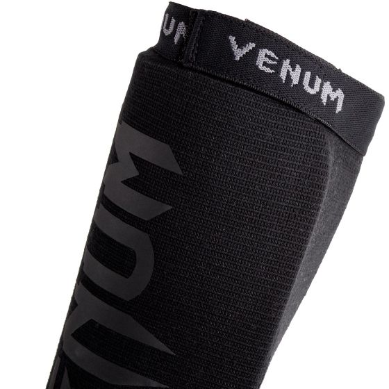 Venum Kontact Shin guards-Black/Black