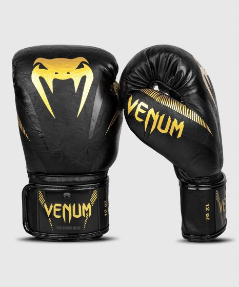 Venum Impact Boxing Gloves - Gold/Black
