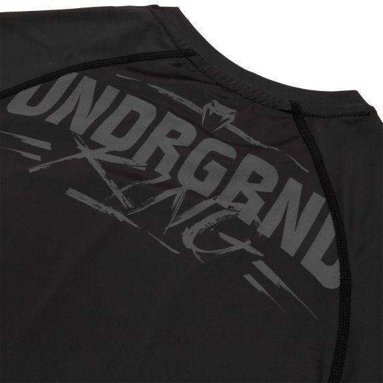 Rashguard Venum Underground King - Manches courtes - Noir/Sable