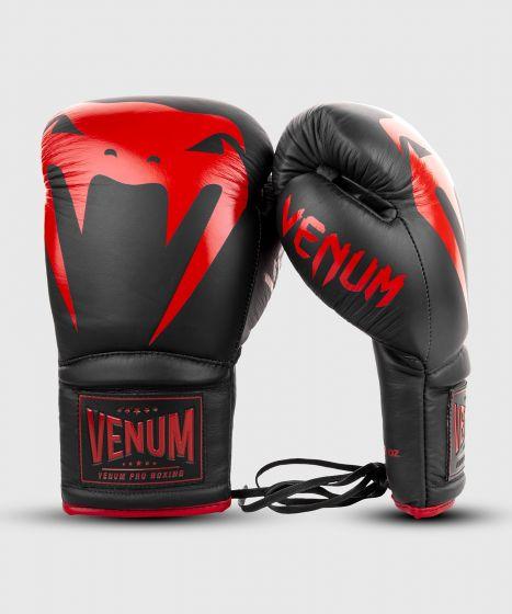 Venum Giant 2.0 professionelle Boxhandschuhe - MIT SCHNÜRUNG - Schwarz/Rot