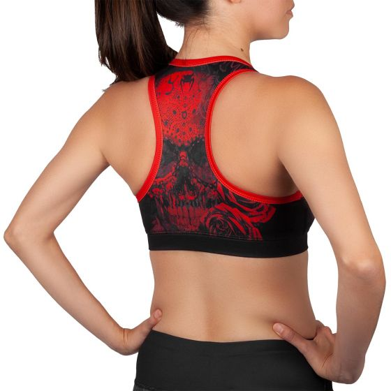 Venum Santa Muerte 3.0 Sport Bras - For Women - Black/Red