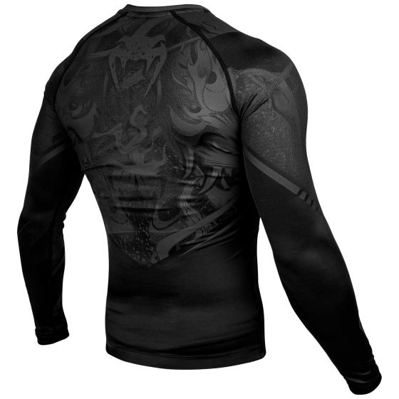 Venum Devil Rashguard - Long Sleeves - Black/Black