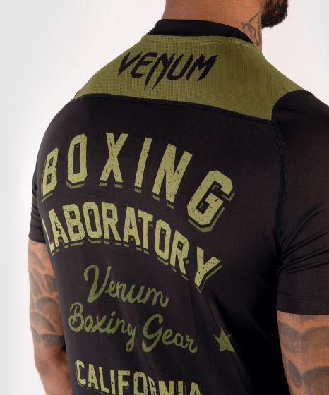 Camiseta Dry-Tech Venum Boxing Lab - Negro/Verde