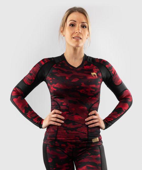 Venum Defender-rashguard met lange mouwen – voor dames - Zwart/Rood