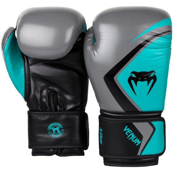Venum Boxing Gloves Contender 2.0 - Grey/Turquoise-Black