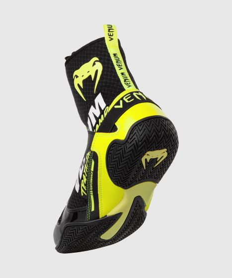 Chaussures de boxe Venum Elite VTC 2 Edition - Noir/Jaune Fluo