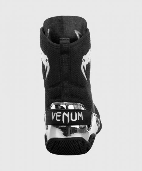 Venum Elite Boxing Shoes - Black/Silver