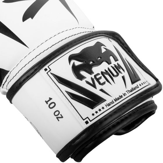 Venum Elite Boxing Gloves - White/Black