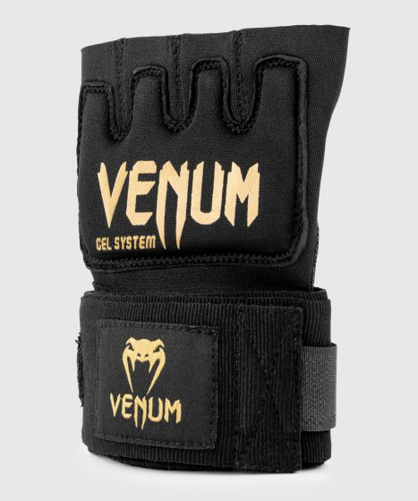 Venum Kontact Gel Glove Wraps - Black/Gold