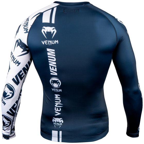 Venum Logos Rashguard - Lange mouwen - Marineblauw/Wit