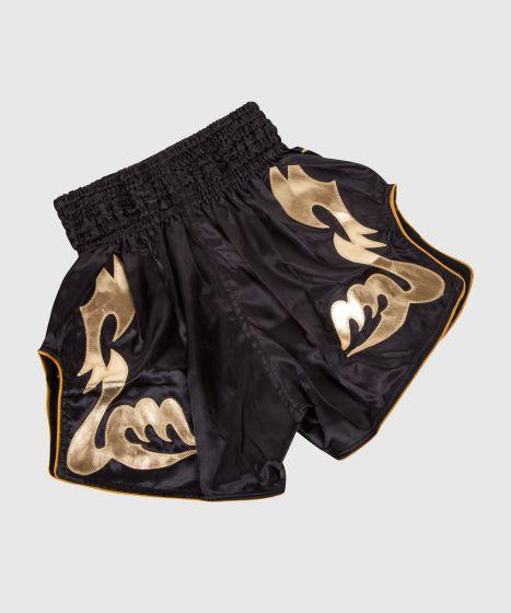 Pantalones Cortos de Muay Thai Venum Bangkok Inferno - Negro/Oro