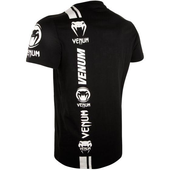 Camiseta Venum Logos - Negro/Blanco