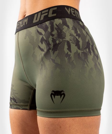 UFC Venum Authentic Fight Week Women's Performance Vale Tudo Shorts - Khaki