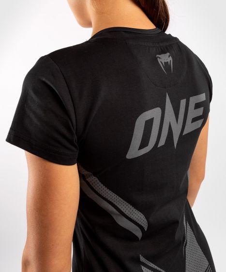 T-shirt Venum ONE FC Impact - pour femme - Noir/Noir