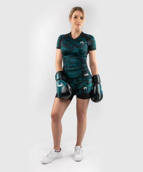 Rashguard mit langen Ärmeln Venum Defender - für Frauen - Schwarz/Grün