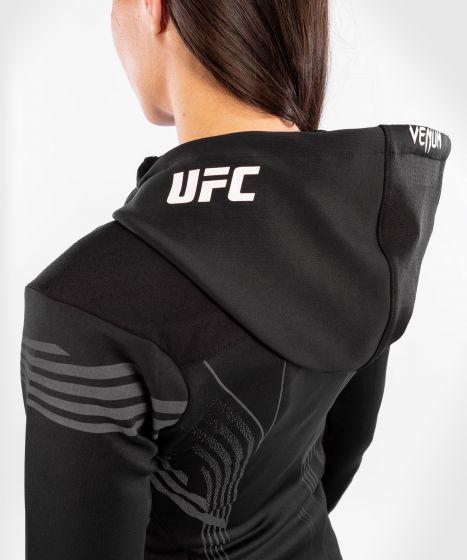 Felpa Con Cappuccio Walkout Donna UFC Venum Authentic Fight Night - Nero