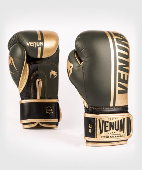 Guantoni da boxe professionali Venum Shield – Velcro - Cachi/Oro