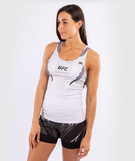UFC Venum Authentic Fight Night Women's fitted Tank with shelf Bra - White