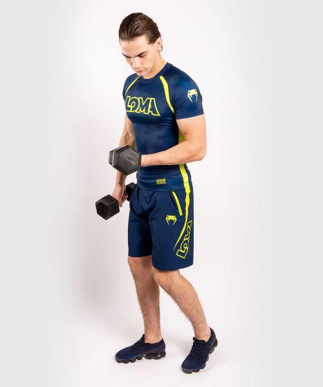 Venum Origins Rashguard Short Sleeves Loma Edition - Blue/Yellow