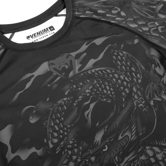 Rash guard Venum Dragon's Flight - Maniche corte - Nero/Nero