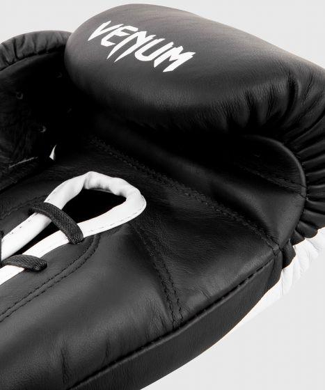 Venum Giant 2.0 professionelle Boxhandschuhe - MIT SCHNÜRUNG - Schwarz/Weiß